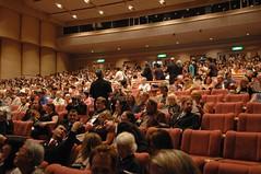 The auditorium filling up