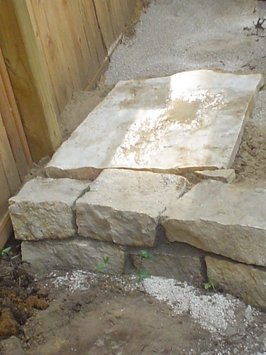 First piece of flagstone