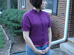 Puff sleeve cardigan finished (stupid clever) Tags: glampyre stefaniejapel fittedknits puffsleevefemininecardigan uruaguaydk