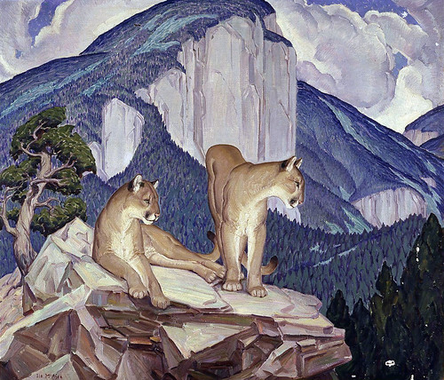 Ila McAfee Turner: Mountain Lions, 1934. From Flickr user americanartmuseum, courtesy Creative Commons.