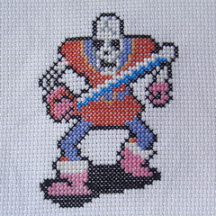 Wraith Knight (benjibot) Tags: crossstitch crafts videogames crop nes dragonwarrior reshoot