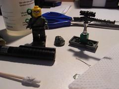 German Sniper, Kar98k, camo hat 2 (Decommisioned) Tags: world 2 holland war lego scope rifle sniper ww2 axis wo2 germans tweede duitsers wereldoorlog kar98k lhproductions00