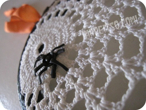 spider web doily embroidery hoop