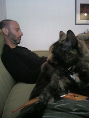 is taking a pre-party break w/ Miss Kitty Isabella and David (@dpaste)