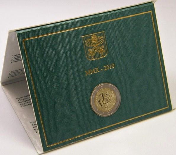 Oficiálne bal. 2 Euro Vatikán 2010, medzinárodný rok kňazov