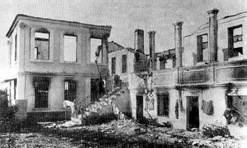 Yangından sonra Rum Aidinion Hastanesi