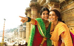 Laaga Chunari Mein Daag (Indari) Tags: orange woman india cinema green smiling movie women finger indian traditional joy mein bombay bollywood indians mumbai sen rani mukherjee choli sharma fabri mukerji mukherji chunari daag konkona indiasong laaga