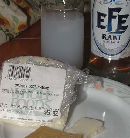 drunken goat cheese + raki