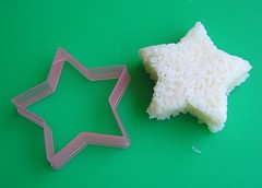Using cookie cutter as onigiri mold #4