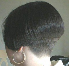 Short black bob (hairxstatic) Tags: shorthair bobbedhair clipperednape invertedbobs buzzednape