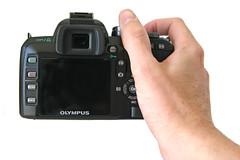 Olympus E-510 - Back