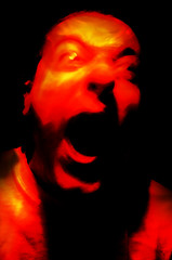 Fearful (Rooz Emad) Tags: fear scream cry fearful redlight roozbehemad head4bang