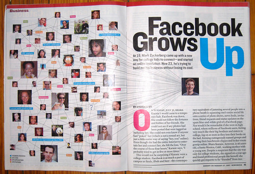 Facebook in Newsweek. With research by Charlene!