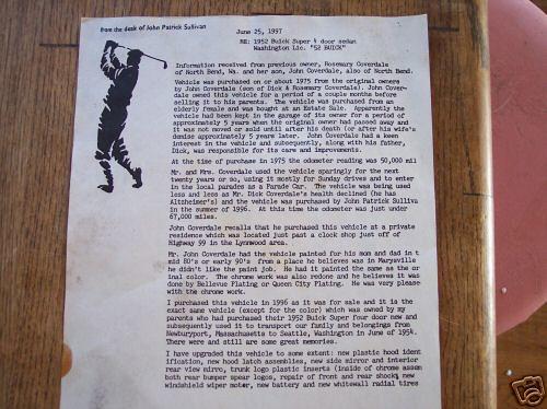 1952 Buick History