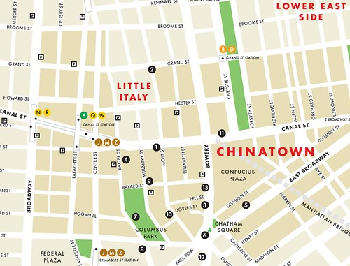 The Chinatown is expanding. As seen in a neighborhood map of NYC,
