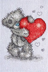 Me to you (sticksuse) Tags: bear crossstitch heart teddy herz br kreuzstich