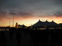 Sunset at Tollwood Christmas Market