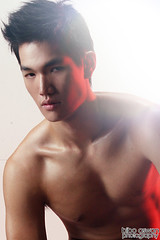 mug shot. (bibo.aswan) Tags: red man male men beauty face fashion asian shoot shot vogue highlight gq homme testshoot