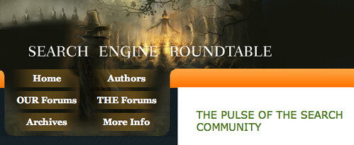Search Engine Roundtable Halloween Logo