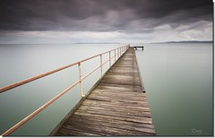 On the Horizon (Reedy Photography) Tags: longexposure clouds pier jetty australia stormy brisbane moretonbay reedyphotography