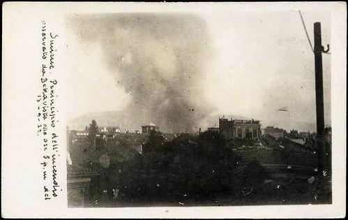 Yangının başlangıcı 13 Eylül 1922 sabahı saat 5, Bella Villa