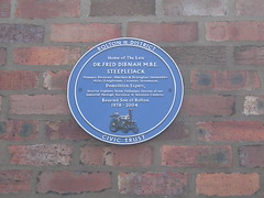 Photo of Fred Dibnah blue plaque