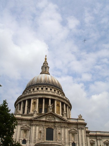 St Pauls and the Plane