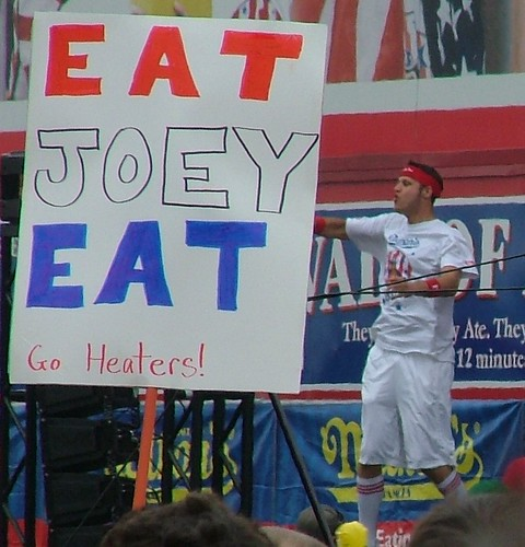 Sign that reads Eat Joey Eat