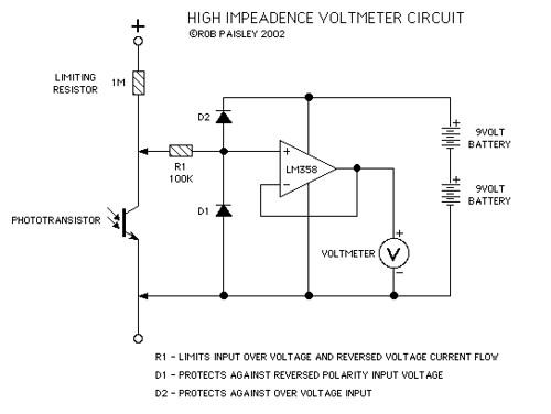 High Impedance Voltmeter