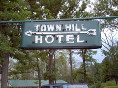 Neon sign, Town Hill Hotel