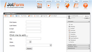 you see is what you get) form builder for the masses. Using JotForm
