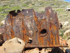 The Bow of S.S. Saros (Wandering Ro) Tags: wood fog coast nationalpark rust rivets ship accident decay steel australia victoria historic coastal shipwreck nautical steamship wreck steamer wrecked 1937 croajingalong pointhicks sssaros capeeverard