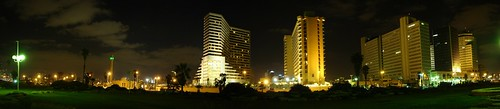 Night Tel Aviv - 360 degrees from south
