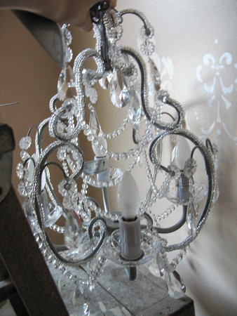 new chandelier for powder room