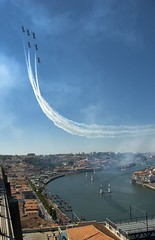 Breitling Jet Team (trazmumbalde) Tags: sky portugal plane landscape europe fighter formation airshow porto blueangels redbull fligth airrace challengeyouwinner