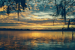 Lake Killarney Sunrise (Paul Hueber) Tags: blue sunset sky orange lake reflection nature water clouds sunrise orlando nikon florida killarney spanishmoss handheld winterpark orangecounty centralflorida naturesfinest musicarver