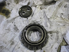 Worn / Broken Keeper & Bearing (rvrich) Tags: machine repair worn cracked bearing extrusion shear machined