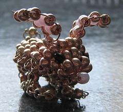 Conejo. (naiarais) Tags: animal handmade conejo artesania manualidades abalorios hechoamano bolitas hechopornaiara animalesdebolitas animalesdegranja