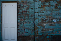 peel (ScarletFaerie (K. Wood Photography)) Tags: door new wood old arizona white building green texture vent peeling paint patterns weathered shack piratetreasure nodoorknob hourofthediamondlight piratetreasure2