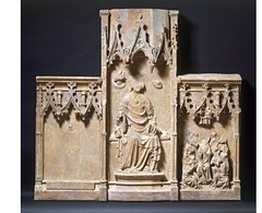 Sutton Valance Altarpiece, English 1350-1375. Museum no. A.58-1921.