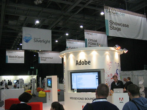 Adobe Booth @ FOWA