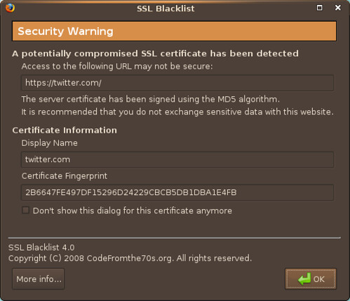 thosch66@Flickr: SSL Blacklist - MD5-Warnung