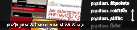 Pozycjonowanie elementów w CSS