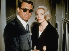 North By Northwest (Bobbins and Bombshells) Tags: film sunglasses standing movie photography actress archives americans males prominentpersons actor whites females retrospective 1959 carygrant evamariesaint filmshooting northbynorthwest closeview starface starposture interiorview americancharm americanmovies starintheusa moviebyhitchcockalfred hitchcockblondes