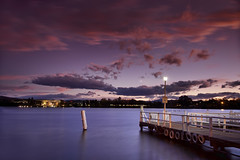 Not Another Lake Shot (Sam Ili) Tags: light sunset sky sun lake color water silhouette clouds canon australia canberra dri burley lakeburleygriffin canberrasunset 5dmarkii canon24105mm4