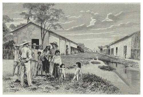 017-Pueblo de Comalcalco-fumadores precoces-Les Anciennes Villes du nouveau monde-1885- Désiré Charnay