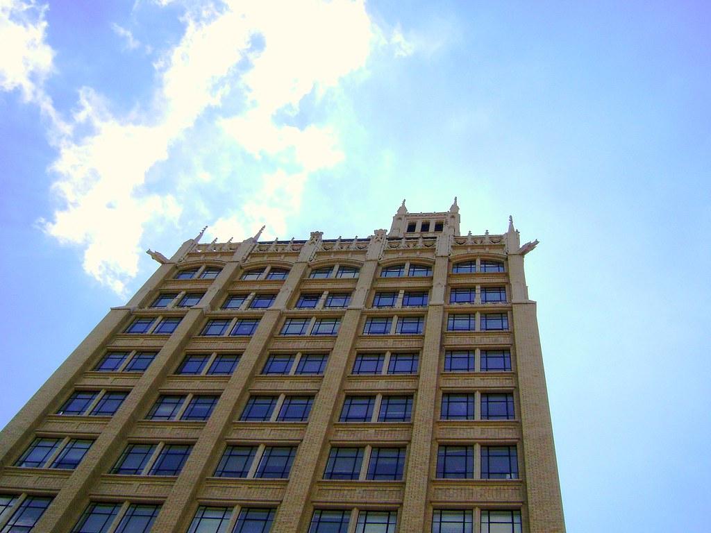 Jackson Building, Asheville NC, Downtown, Gargoyles, Buncombe County