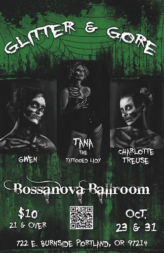October 23: The Royal Tease Glitter & Gore @ Bossanova Ballroom | Boobs & Blood