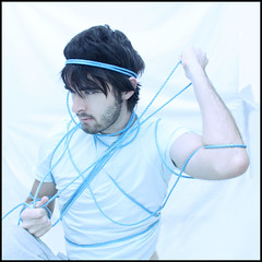 Corsicus (Daniel Smith Photography) Tags: blue light white selfportrait rope sheet 365 tied simple corsicus