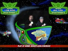 Tim outscored Jen on Buzz Lightyear Blasters. (5/11/07)
